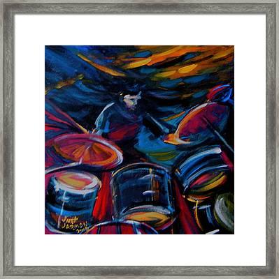 Drummer Craze Framed Print by Jeanette Jarmon