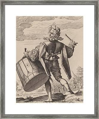 Drummer Framed Print by Hendrik Goltzius