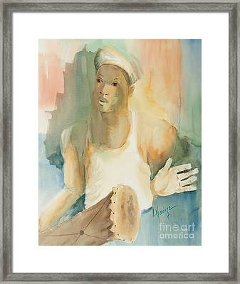 Drummer Framed Print by Mary DuCharme
