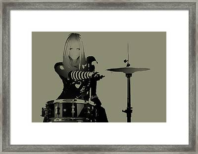 Drummer Framed Print by Naxart Studio