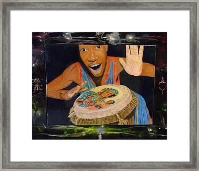 Drumming Framed Print by Neg Ayiti