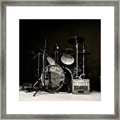 Drums And Crate Framed Print