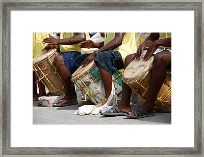 Drums And Drummers Of Honduras Framed Print by David Coleman