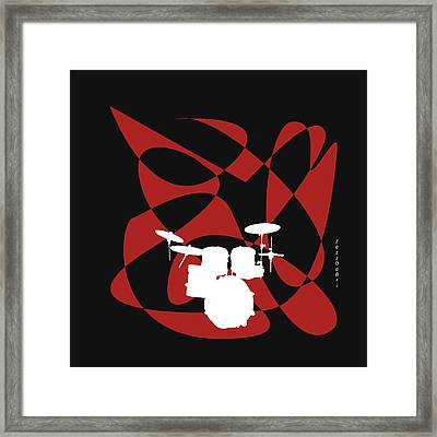 Drums In Black Strife Framed Print