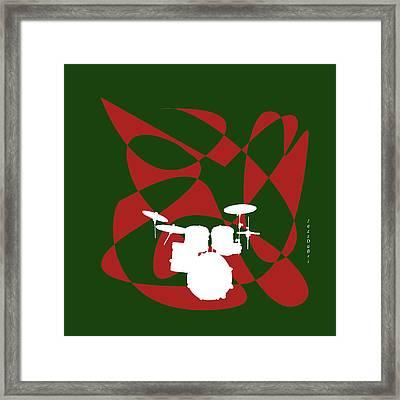 Drums In Green Strife Framed Print by David Bridburg
