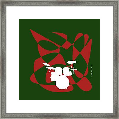 Drums In Green Strife Framed Print