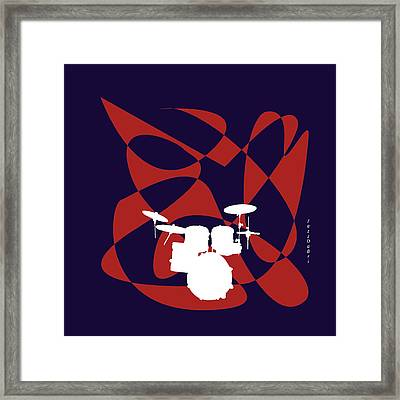 Drums In Purple Strife Framed Print