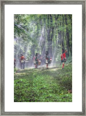 Drums In The Forest Before The Battle Framed Print by Randy Steele