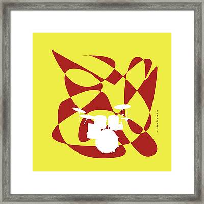 Drums In Yellow Strife Framed Print