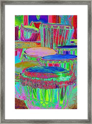 Drums Of Change Framed Print by Richard Henne