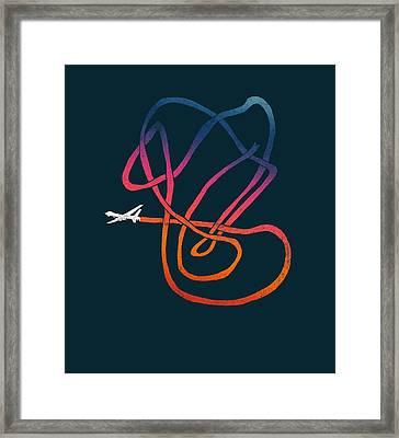 Drunk Drone Framed Print by Illustratorial Pulse