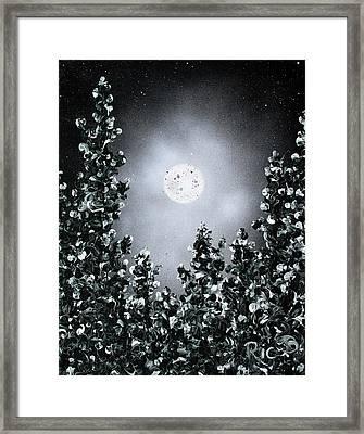 Drunk On Winter Moonshine Framed Print by Ric Bascobert
