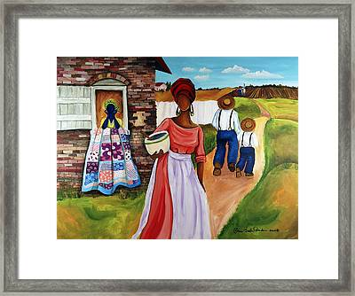 Drunkards Path Framed Print by Diane Britton Dunham