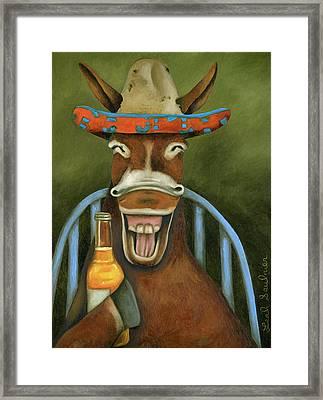 Drunken Dumb Ass Framed Print by Leah Saulnier The Painting Maniac