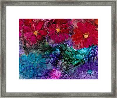 Drunken Flowers Framed Print