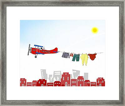 Dry Cleaning Framed Print