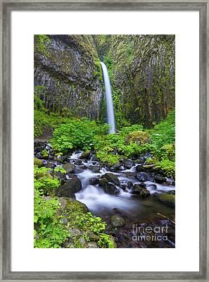 Dry Creek Falls Framed Print