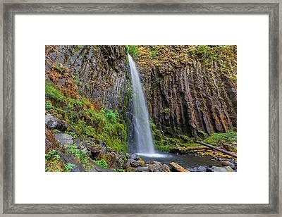 Dry Creek Falls Framed Print by David Gn