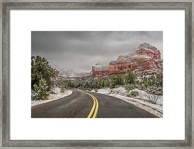 Boynton Canyon Road Framed Print