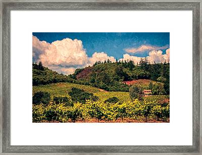 Dry Creek Valley Framed Print by John K Woodruff