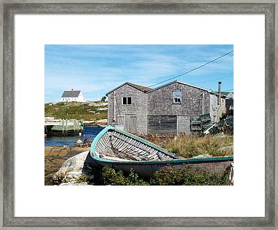 Dry Dock At Peggy's Cove Framed Print by Richard Mansfield