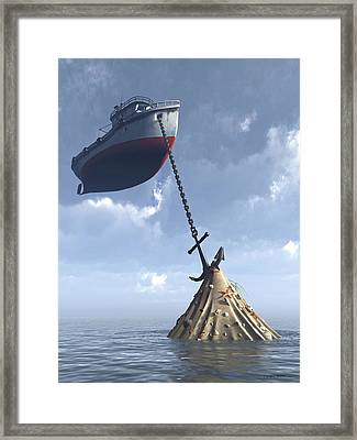 Dry Dock Framed Print