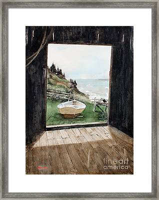 Dry Docked Framed Print