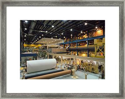 Dry End Of Paper-making Machine Framed Print