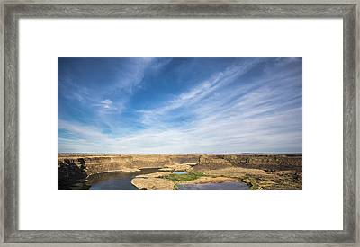 Dry Fall, Washington Framed Print