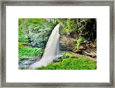 Framed Print featuring the photograph Dry Falls Highlands North Carolina 2 by Lisa Wooten