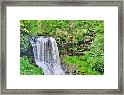 Dry Falls Highlands North Carolina Framed Print