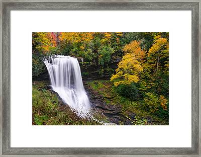 Dry Falls Highlands North Carolina Framed Print
