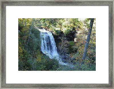Dry Falls Waterfall North Carolina Framed Print by rd Erickson