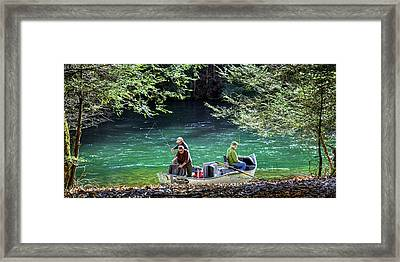 Dry Fly Anticipation Framed Print by Karen Wiles