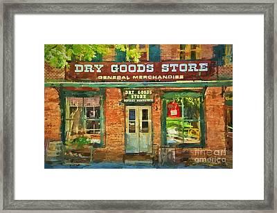 Dry Goods Framed Print
