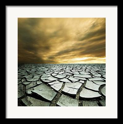 Cracked Framed Prints