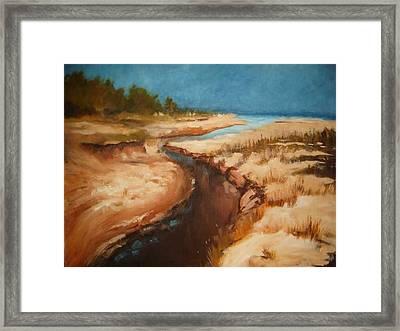 Dry River Bed Framed Print by Nellie Visser