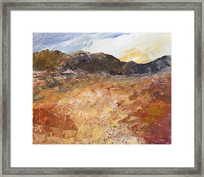 Framed Print featuring the painting Dry River by Norma Duch