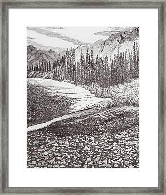 Dry Riverbed Framed Print