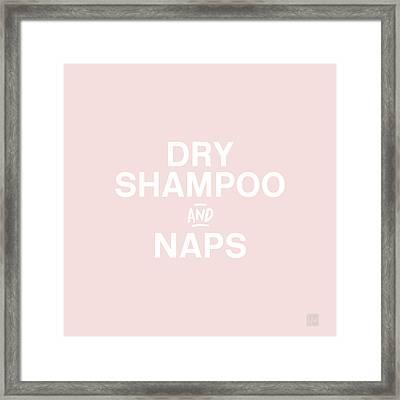 Dry Shampoo And Naps Blush- Art By Linda Woods Framed Print