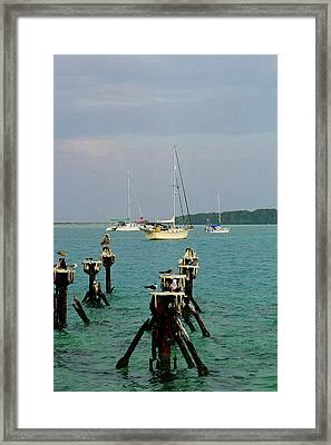 Dry Tortuga Sail Boats Framed Print