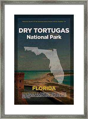 Dry Tortugas National Park In Florida Travel Poster Series Of National Parks Number 19 Framed Print by Design Turnpike