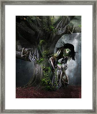 Dryad's Dance Framed Print by Mary Hood