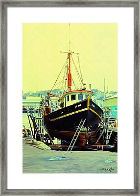 Drydock Framed Print by Frank Wilson