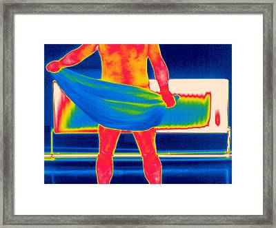 Drying Off, Thermogram Framed Print