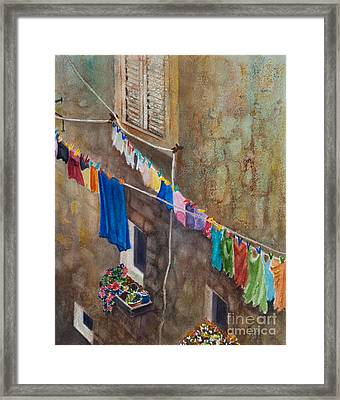 Drying Time Framed Print