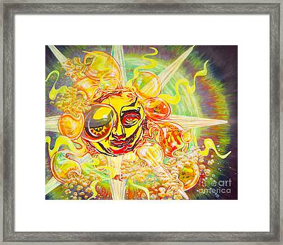 2015 Cbs Sunday Morning Sun Art-solar Flares Framed Print