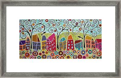 Dsc01598-swirl Tree Village Framed Print