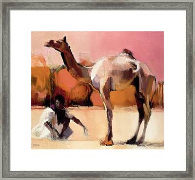 dsu and Said - Rann of Kutch  Framed Print by Mark Adlington