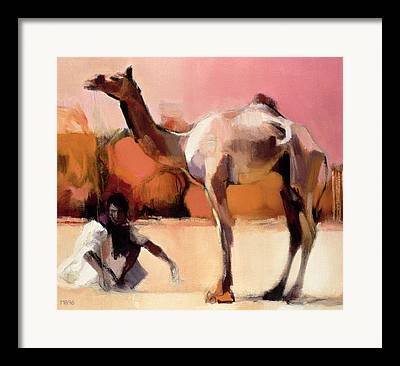 Camel Framed Prints